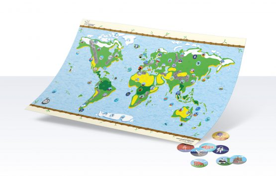 Interaktive Kinder-Weltkarte Awesome Maps